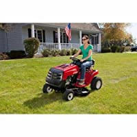 "Convenient 6-Speed Shift-On-The-Go Transmission, 38"" 11.5 HP Riding Mower, Red/Black by Murray"