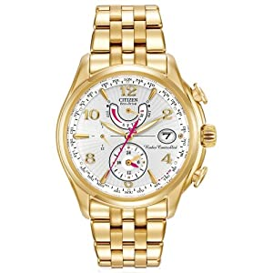 Citizen Women's FC0002-53A World Time A-T Analog Display Japanese Quartz Gold Watch