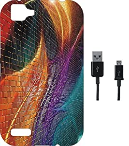 BKDT Marketing Beautifully printed Soft Back cover for Vivo V1 With Charging Cable