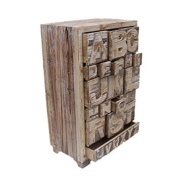 Cómoda de almacenamiento alfabeto
