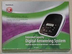 radio shack answering machine messages