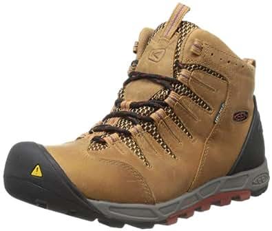 KEEN Men's Bryce Mid WP Hiking Boot,Brown Sugar/Burnt Henna,7.5 M US