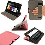 IGadgitz Pink PU Leather Case Cover for Amazon Kindle Fire HD 7