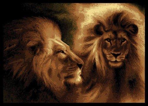United Weavers Legends Area Rug 910-02250 Lion Profile Black Lion Animals 6'7