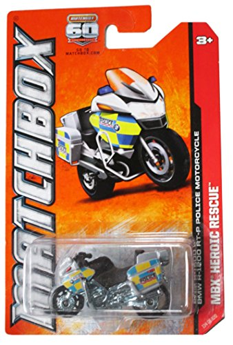Matchbox MBX Heroic Rescue BMW R-1200 RT-P Police Motorcycle Gray/Silver #114 of 120 - 1