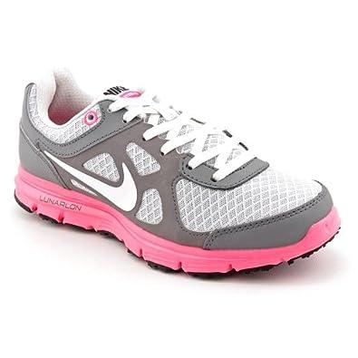 Nike Lunar Forever Big Kids GS Running Cool Grey Platinum Spark White (GS) (5.5)