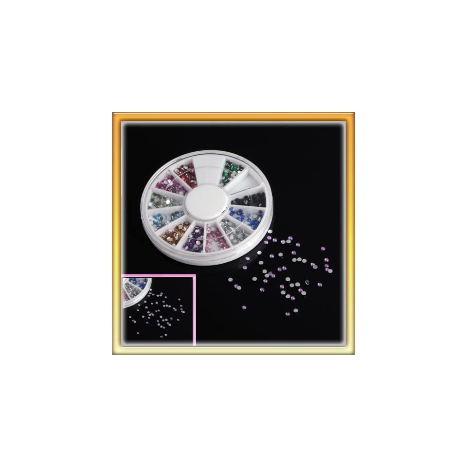 LY Glamourous 12 Color Water Drop Nail Art Diy Nail Sticker Decoration One Box P0646