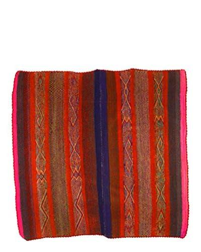 Uptown Down Found Traditional Heirloom Rug, Red/Orange, 4' 11 x 5' 2