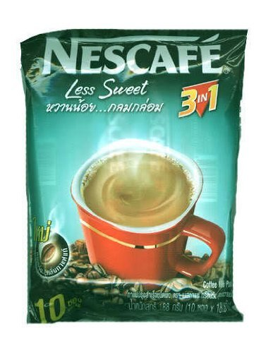 2X10 Sticks Nescafe 3In1 Instant Coffee Powder Less Sweet Thailand front-169442