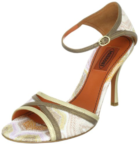 Missoni SANDALO T.90 INCROCIO TM16 C, Sandali donna, Oro (Gold (ORO)), 42
