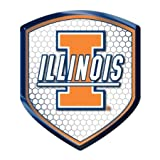 Illinois Fighting Illini NCAA Reflector Decal Auto Shield for Car Truck Mailbox Locker Sticker College Licensed... at Amazon.com