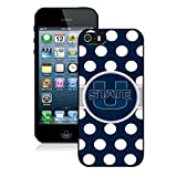 img - for NCAA Pacific Conference Pac Football NCAA Mountain West Conference MWC Utah State Aggies Black iPhone 5s Phone Case Genuine Custom Cover book / textbook / text book