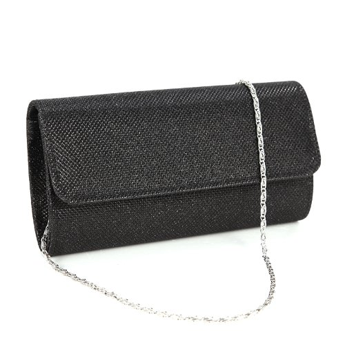 Black Clutch Purses. Product - ELEOPTION Fashion Women Rhinestone Luxury Triangle Clutch Evening Bag Bling Zipper Party Prom Wedding Purse (Gold,Silver,Black) Best Seller. Product Image. Price $ List price $ Chicastic Small Flower Shaped Wristlet Wedding Evening Flower Girl Clutch Purse - Blue.