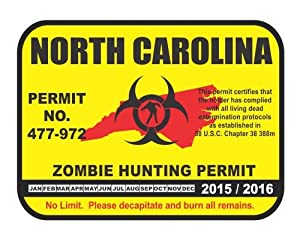 North carolina state zombie hunting permit for Nc wildlife fishing license