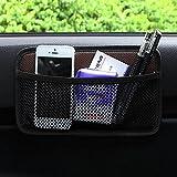 EarthSafe® Bolsa de red de almacenamiento de coches, malla lateral del coche Organizador de bolsillo Smartphone Holder bolsa (Marrón)