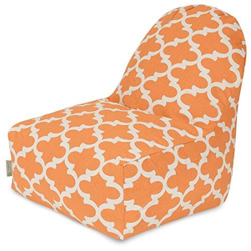 Majestic Home Goods Trellis Kick-It Chair, Peach