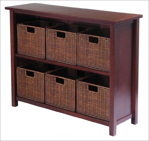 Winsome® Milan Low Storage Shelf with Baskets