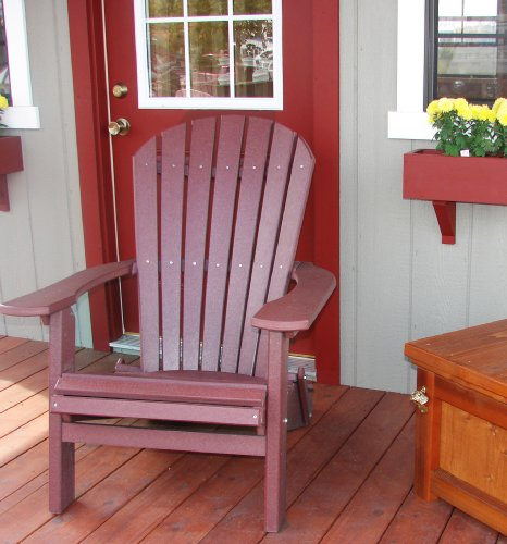 Forever Phat Tommy Deluxe Recycled Poly Wide Folding Adirondack Chair    Dark Red