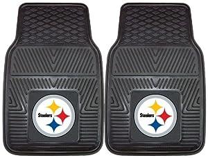 FANMATS NFL Pittsburgh Steelers Vinyl Heavy Duty Vinyl Car Mat by Fanmats