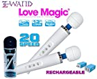 Holiday Bundle: Z Wand Love Magic Multipurpose White Original Therapeutic Massager USB - Hitachi Style 20 Speed Patterns, Quiet Vibrations - Steady & Pulsating, Silicone Massage Head, Flexible Neck, Maximum Pleasure -13 Length, Strong Motor for Neck & Shoulder for Men, Women and Couples PLUS Christmas Special Includes: One Bottle of 2 oz Z Lube Aqua & Exclusive Matching EnerZ Dual USB wall charger 2.4-Amp + 1-Amp (17 Watt) with USA Plug Designed For Apple iPhone 6+ 6 5 5S and 5C iPad Mini Ipad And Android Galaxy Note 2 3 Tablet Devices - 100% NO Questions, NO Hassle 90 Day Guarantee