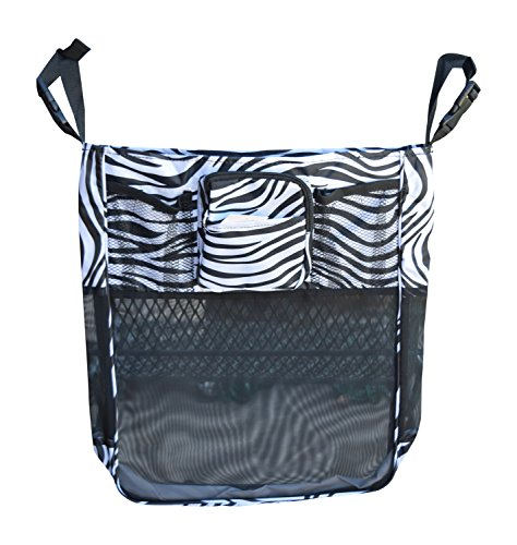 Set of Universal Fit Detachable Stroller Organizer With Deep Pocket and Zippered Case (Bundle) (Black/White Zebra) (Be Agile 35 Travel System compare prices)