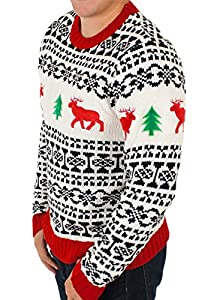 Holiday Reindeer Men's Sweater in Antique - Ugly Christmas Sweater