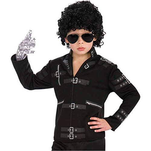 Michael Jackson Bad Black Buckle Kids Jacket
