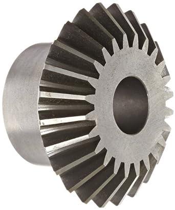 Boston Gear OA Series Miter Gear, 1:1 Ratio, 20 Degree Pressure Angle, Straight Miter, Plain Bore, Cast Iron