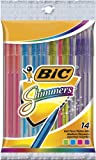 BIC Shimmers Ball Pen, Medium Point (1.0 mm), Assorted, 10 Pens
