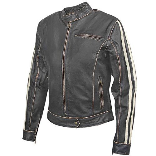 Xelement BXU-100530 Vintage Womens Dark Brown Leather Jacket - 3X-Large 0