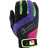 Franklin Sports MLB Adult Shok-Wave Batting Gloves, Black/Purple/Pink, X-Large, X-Large/Black/Purple/Pink