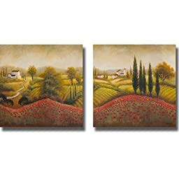 Flourishing Vineyard by Michael Marcon 2-pc Gallery-Wrapped Canvas Giclee Art Set (Ready-to-Hang)