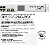 MikroTik CRS226-24G-2S+RM Cloud Router Gigabit Switch, 24x 10/100/1000 Mbit/s Gigabit Ethernet with AutoMDI/X, Fully manageable Layer3, RouterOS v6, Level 5 license