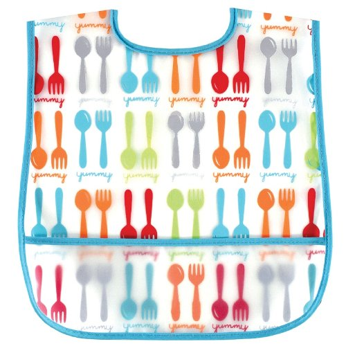 Luvable Friends Waterproof Feeder Bib with Crumb Catcher Pocket - 1