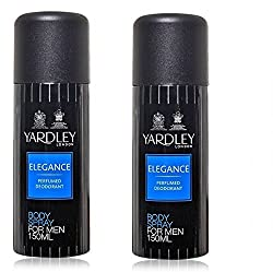 Yardley Elegance Body Spray for Men, 150ml (Pack of 2)