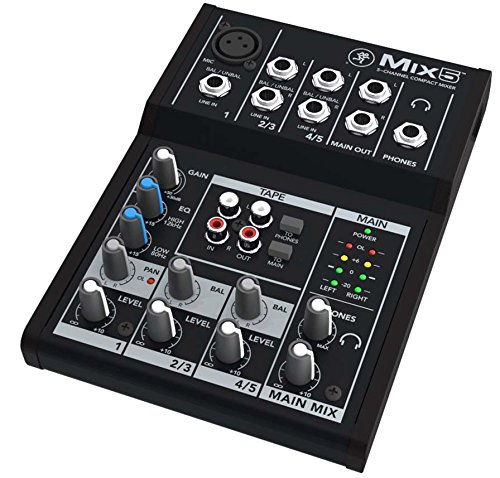 Mackie Mix Series Mix5 5-Channel Mixer (Battery Powered Audio Mixer compare prices)