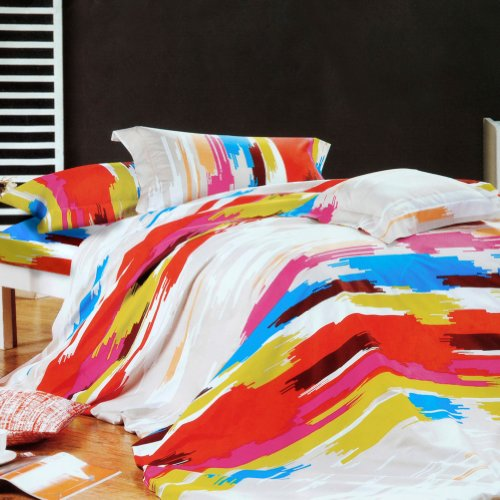 Blancho Bedding - [Graffiti Art] Luxury 4Pc Comforter Set Combo 300Gsm (Twin Size) front-933763