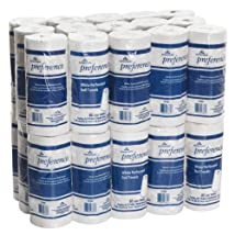 Georgia-Pacific Preference 27385 White 2-Ply Perforated Paper Towel Roll 8.8 Length x 11 Width (Case of 30 Rolls 85 per Roll)