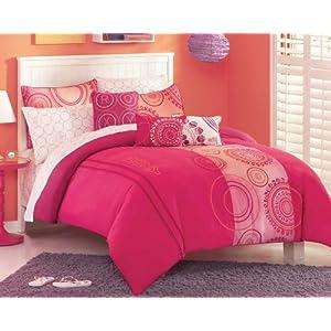 Dorm Bedding Girls Roxy Teen Hot Pink Orange Dot Twin Xl Duvet