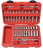 TEKTON 13001 1/4-Inch Drive Socket Set, Inch/Metric, 51-Piece