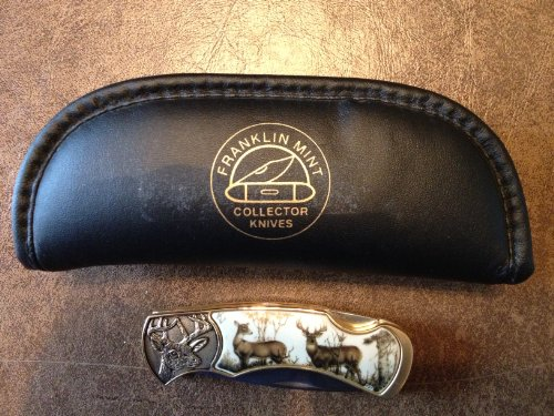 Franklin Mint Collectible Knife - The Official 10-Point Buck Collector Knife