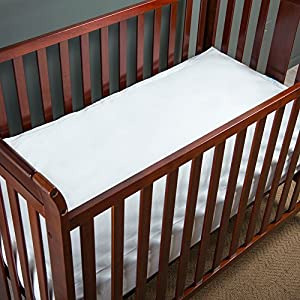 QuickZip Cotton Crib Sheet, 1 Zip-On Sheet + 1 Drop-in Base, White