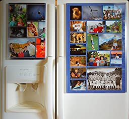 Fridgemag Model A ; 16 Inch X 24 Inch Magnetic Frame, Use with Photos of Every Size, Shape and Styles and Makes the Kitchen Look More Organized