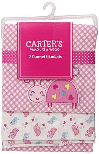 Carter's Watch the Wear 2 Flannel Blankets - 2 pkg of 2 Blankets