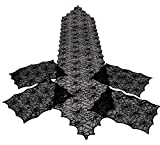 Spiderweb Black Lace Table Runner & 4 Placemats