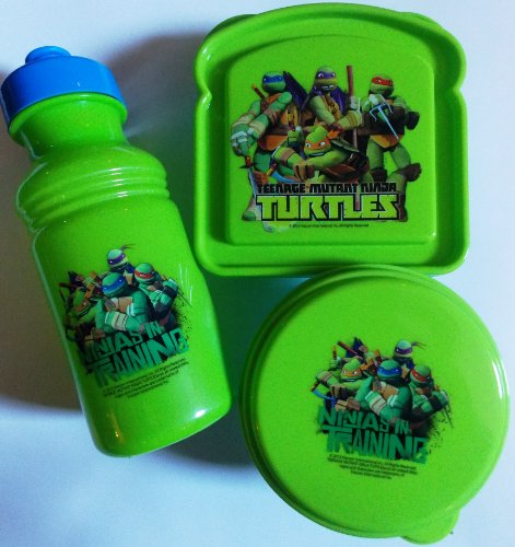 Teenage Mutant Ninja Turtles 3-Piece Lunch Box Set TMNT - 1