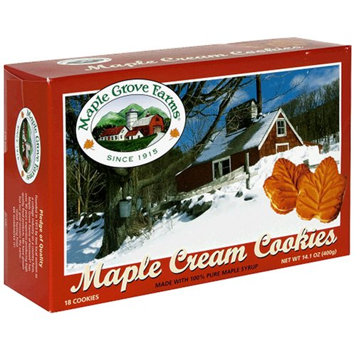 Maple Grove Farms Maple Cream Cookies, 14.1-Ounces (Pack of 6)