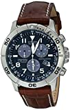 Citizen Mens BL5250-02L Titanium Eco-Drive Watch with Leather Band