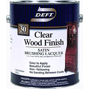 Deft 01701 Interior Lacquer 1g Clear Wood Finish Brushing