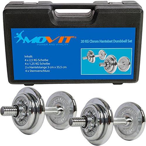 MOVIT® 20 kg Chrom Kurzhantel Set